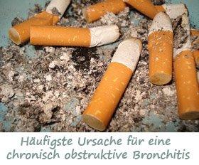 Chronisch obstruktive Bronchitis Symptome und Behandlung